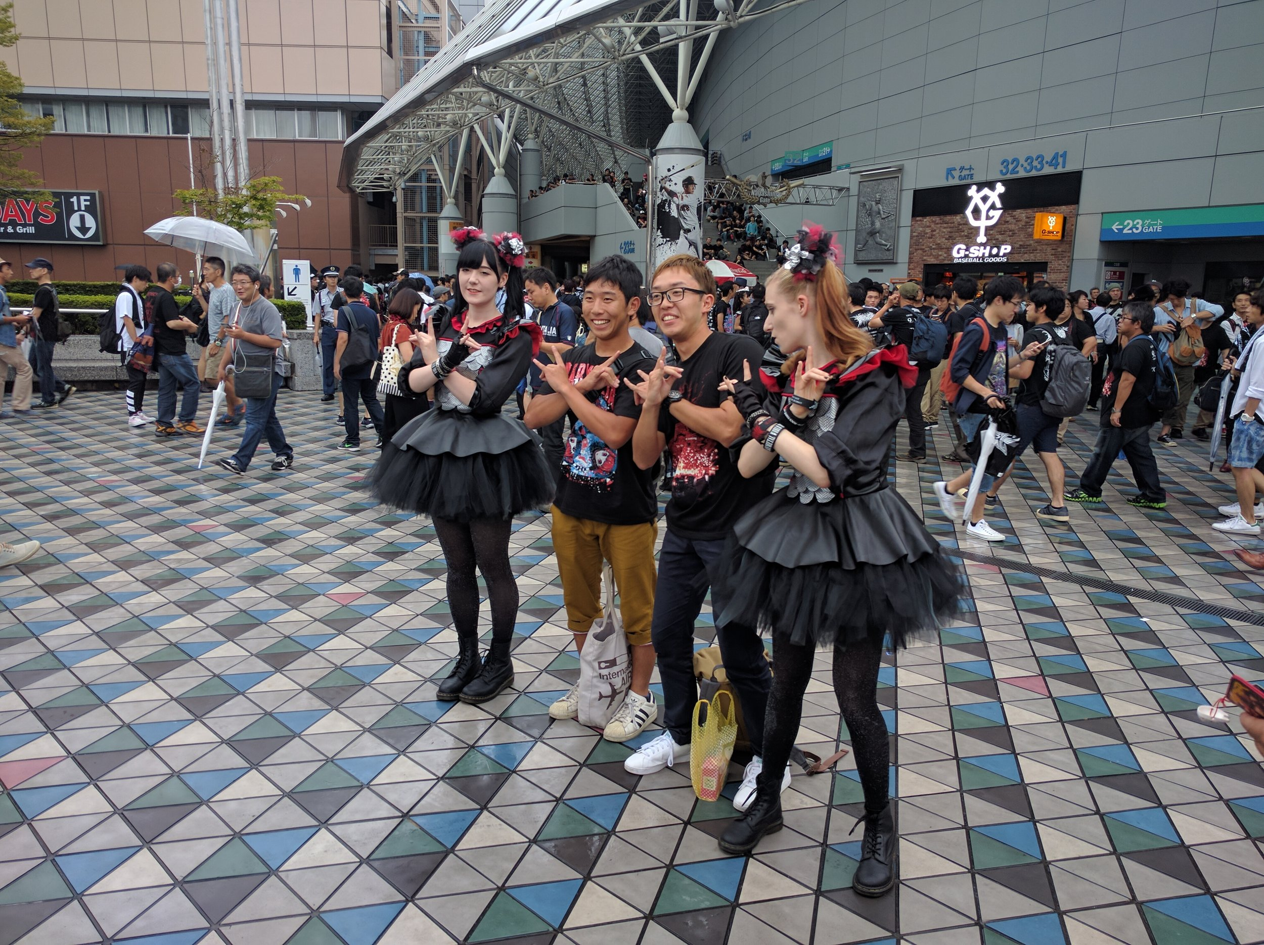 Superfans outside Tokyo Dome
