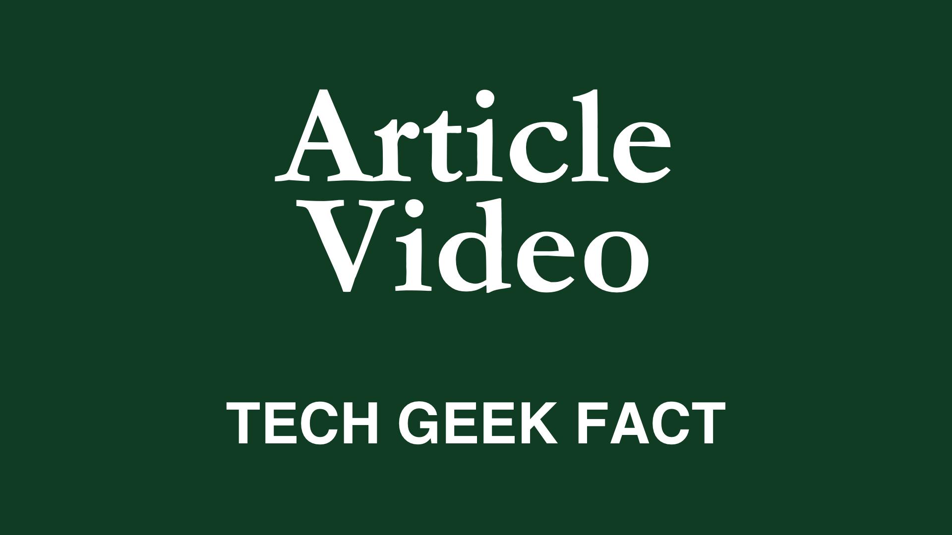 Welcome to Tech Geek Fact