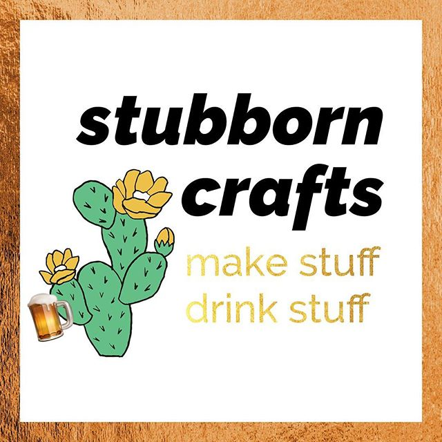 If you enjoy good beer + possibly glueing your fingers together with a few friends, this Sunday head over to @stubborngermanbrewingwaterloo for the next #StubbornCrafts with me + @onebigdanceparty . We will be making pet rock cacti this week. 🌵 . Purchase your tickets + RSVP on our event page at philomenaANDruth.com #waterlooillinois #diy #stubborn