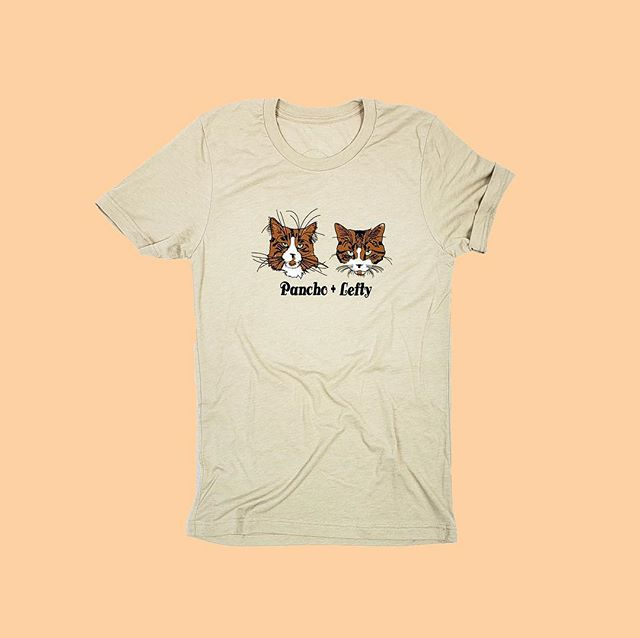 The boys are getting ready for bed, but you can take them with you wherever you go with the Pancho + Lefty T. . www.philomenaANDruth.com #panchoandlefty #shopcats #meow