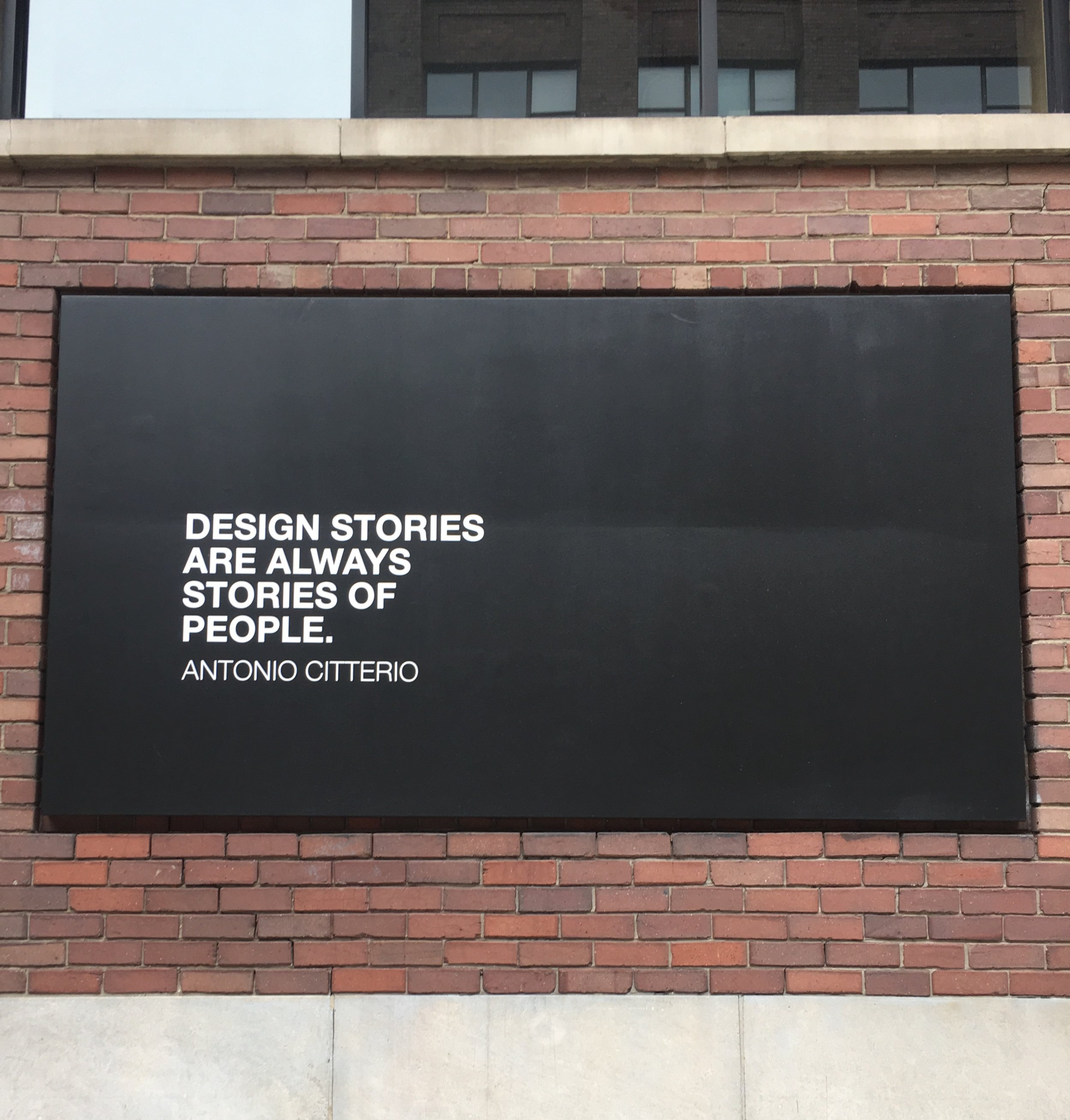 Shout out to the lighting design store near the office for hanging this awesome piece outside.