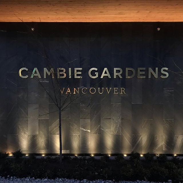 Hand formed channel letter in stainless steel.  Brushed brass plated PVD coating.  For Cambie Gardens @onnigroup . . . #vancouversigns #signmaker #handmadesigns #sign #vancouversigns #handmadesign #metalsign #madeinvancouver #signfabrication #signcollective #neonvancouver #neonsignage