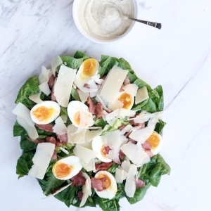 The best Caesar Salad with anchovy dressing Gluten Free