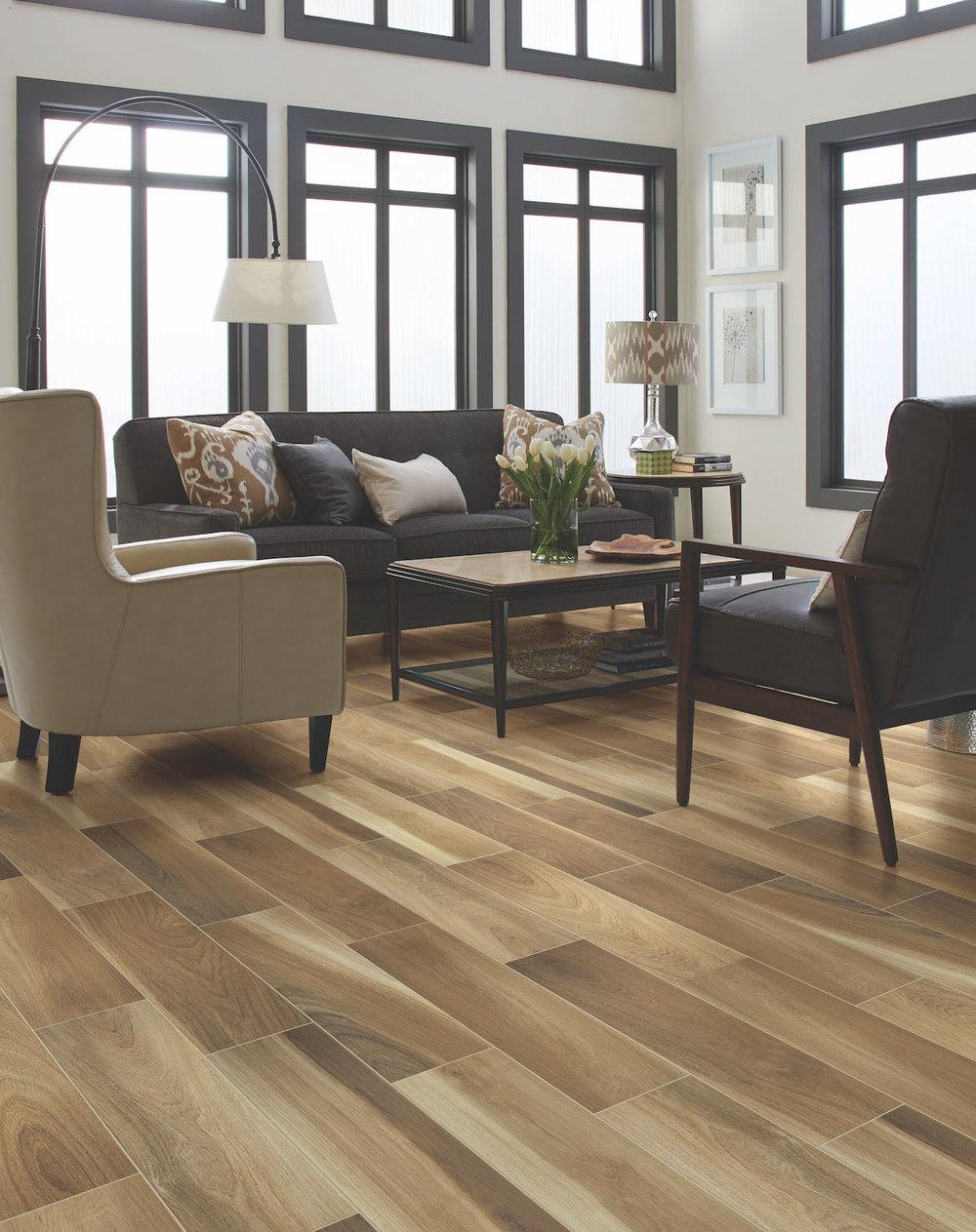 wood look tile — Acadian Flooring Design Center