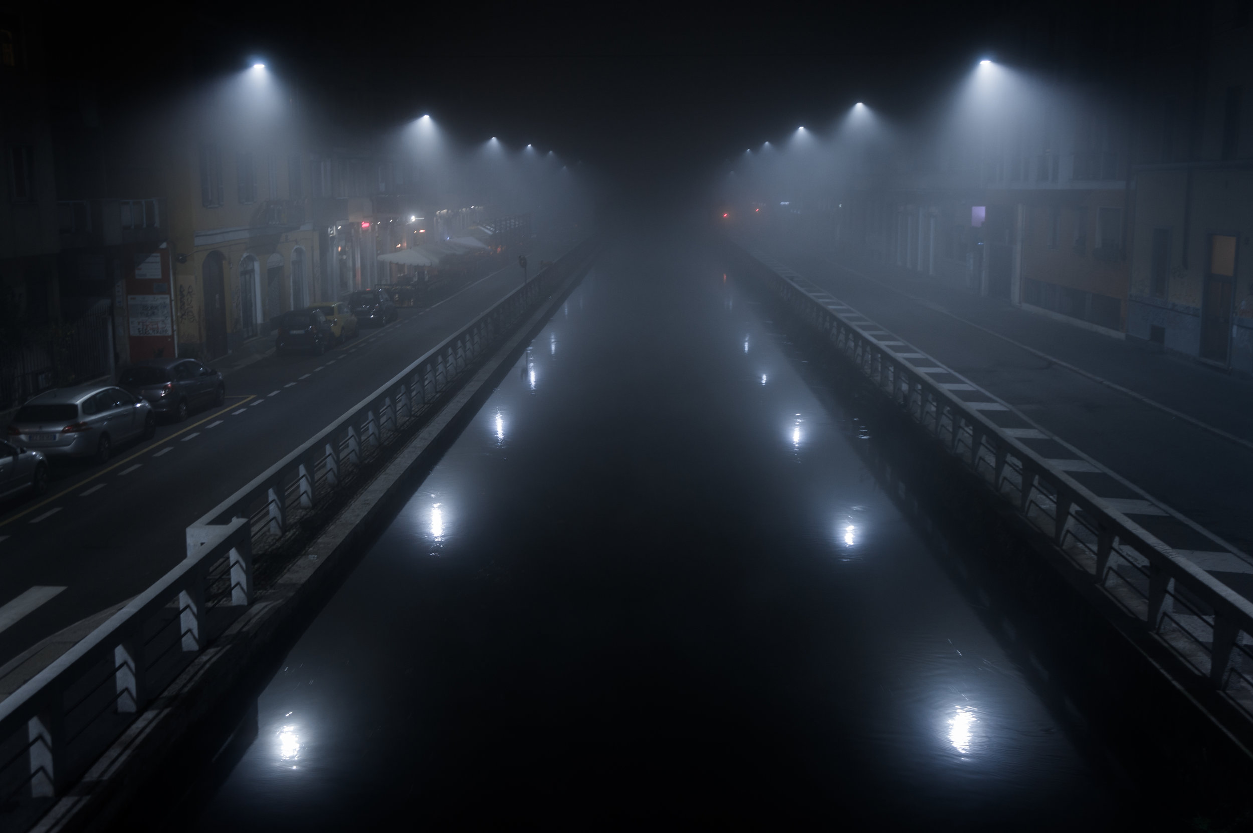 Navigli at midnight.