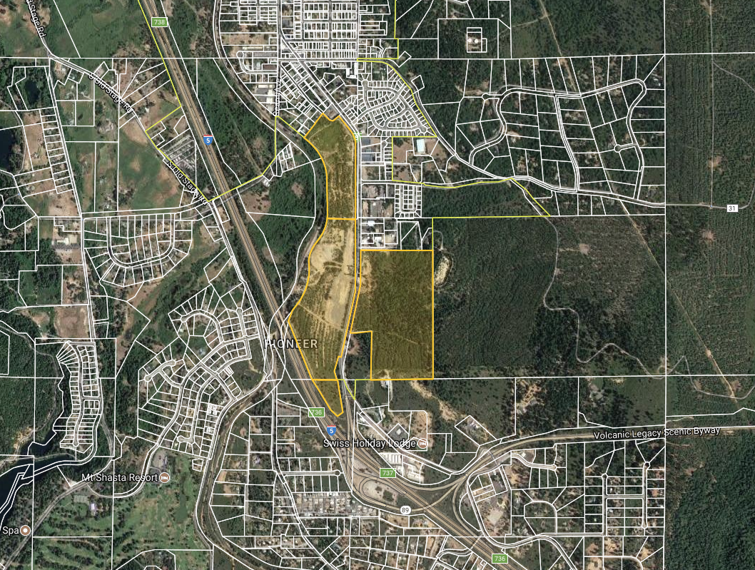 The Landing Commerce Park - Mt. Shasta, CA- Acres: 220- Zoning: Planned Unit DevelopmentMt. Shasta Landing is a large property in Northern California with rail and freeway frontage.