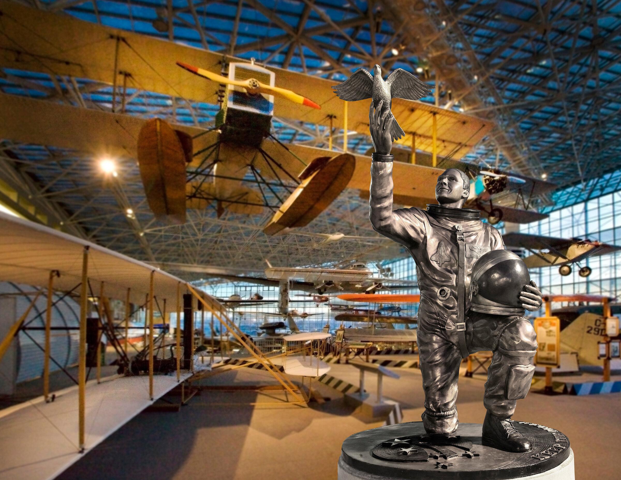 Photo comp Museum of Flight main hall, Seattle Washington