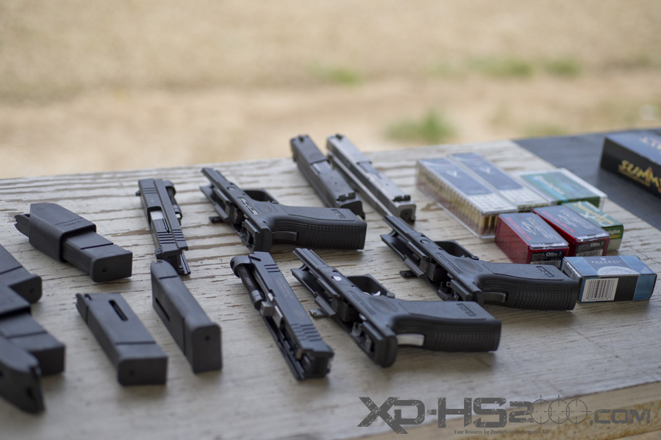 One of the many range trips out with the XD 940-4 kits.  Springfield XD 22LR conversion kit.