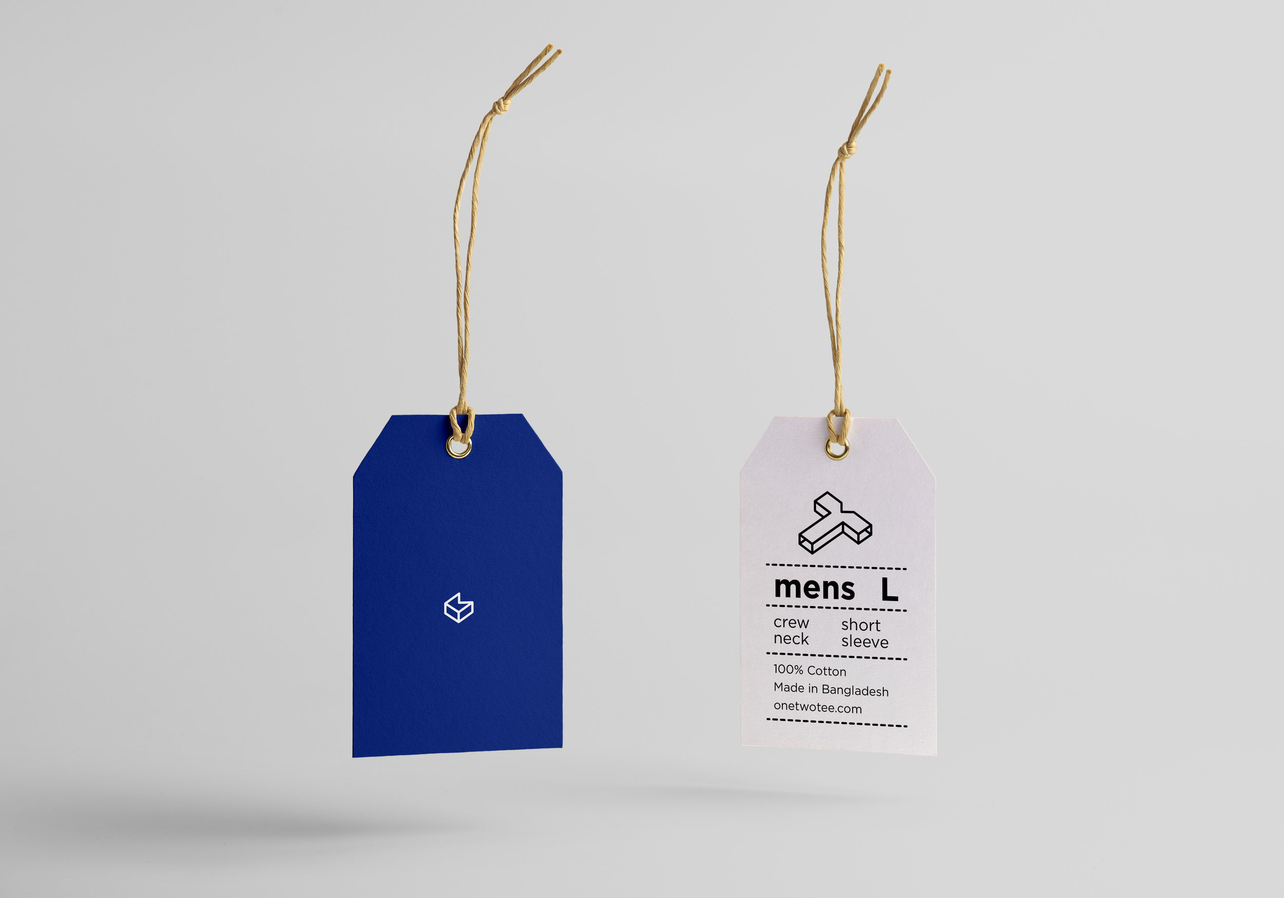 Clothing swing tags.
