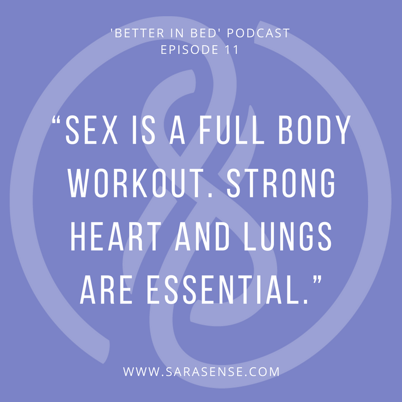 sarasense sexercise better in bed podcast