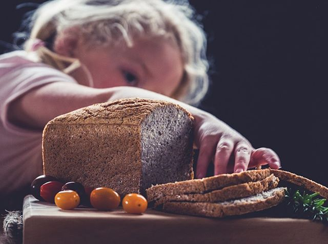 When you're playing around with food photography and Miss 3yrs can't resist the temptation. Thanks Vlad for @thehubtrentham for the loaf! ❤️ 🍞 The girls almost ate the whole thing!  #foodphotography #practicemakesperfect #bread #glutenfreebread #ididntmakeit #littleseedbakery #lowerhutt #sixseed #veganbread #littleseed #seeds #delicious #allgone #yummy #nutritious #nutritiousanddelicious #littlefingers #yoink #fujifilmnz #fujifilm #fujifilmxt2 #xt2