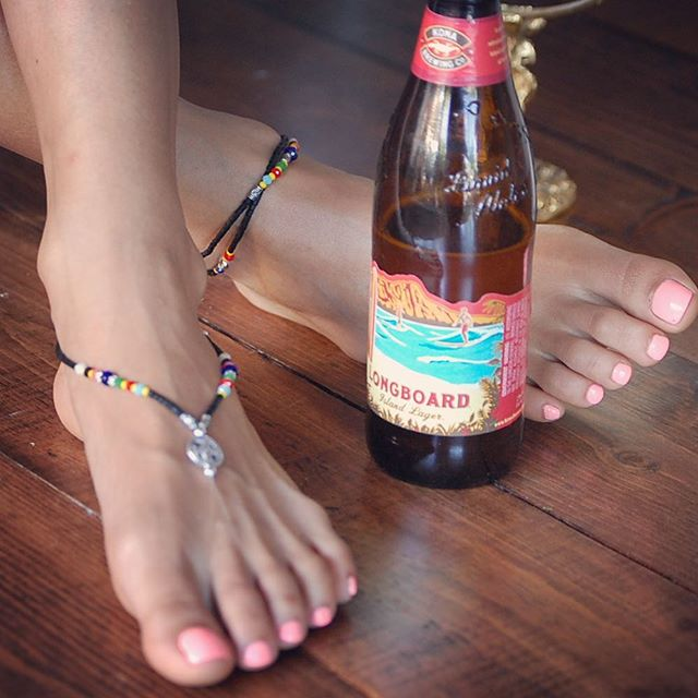 Look fabulous whether your on a longboard or drinking one... #NationalBeerLoversDay #WaterproofJewelry #BeerProofTooProbably