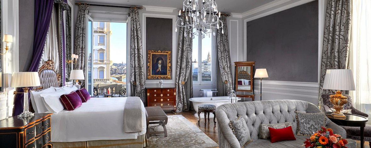 A Junior Suite at the St. Regis Firenze