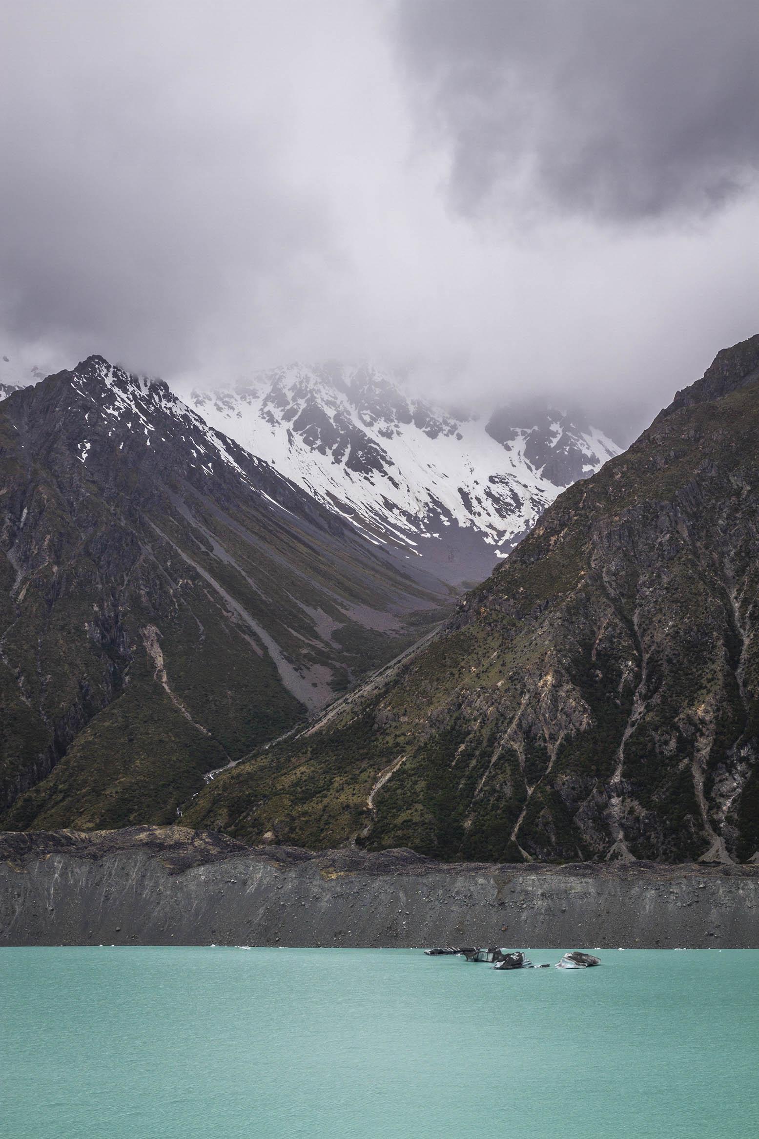 Tasman Glacier, New Zealand.  An unreal landscape.
