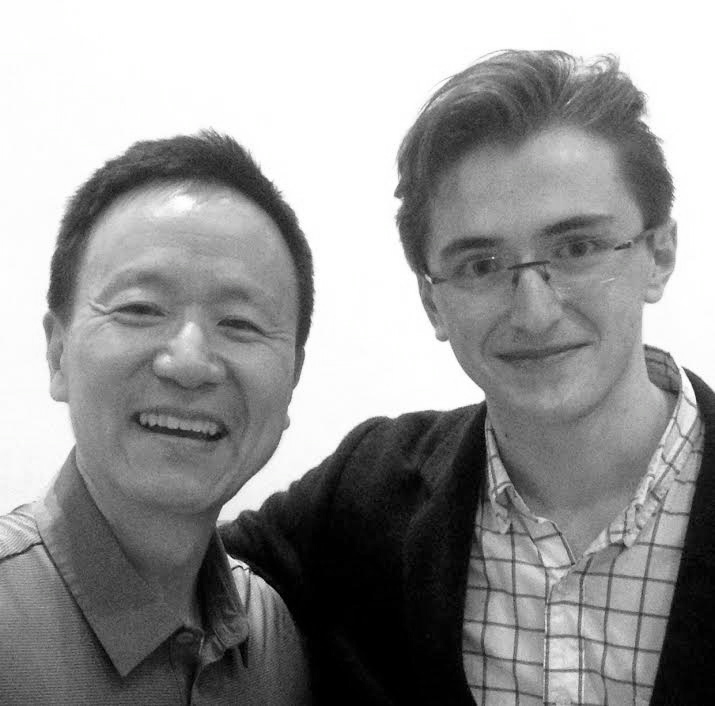 Brieuc Vourch and David Kim, concertmaster of the Philadelphia Orchestra.