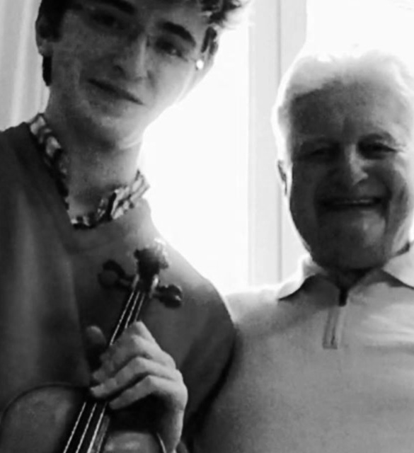 Brieuc Vourch and Thomas Brandis (1935-2017), concertmaster of the Berlin Philharmonic Orchestra.