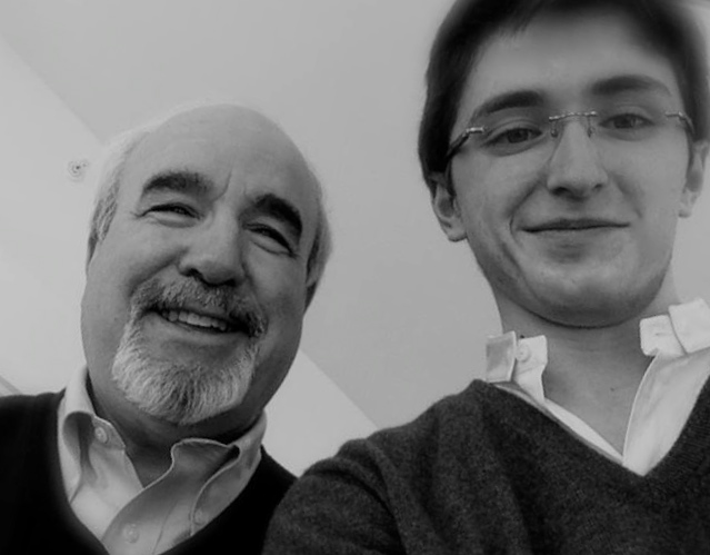 Brieuc Vourch and Glenn Dicterow, concertmaster of the New-York Philharmonic Orchestra.