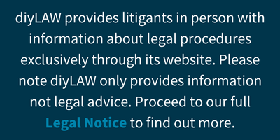 diyLAW - Help for Litigants in Person: Legal Notice