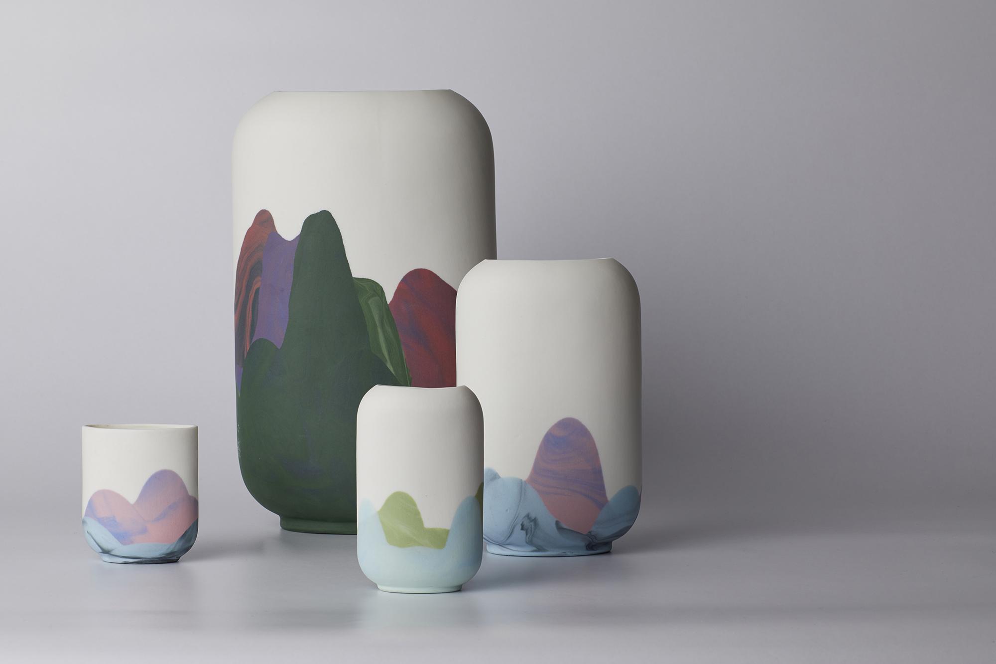 Mixed Hong Kong vases and cup