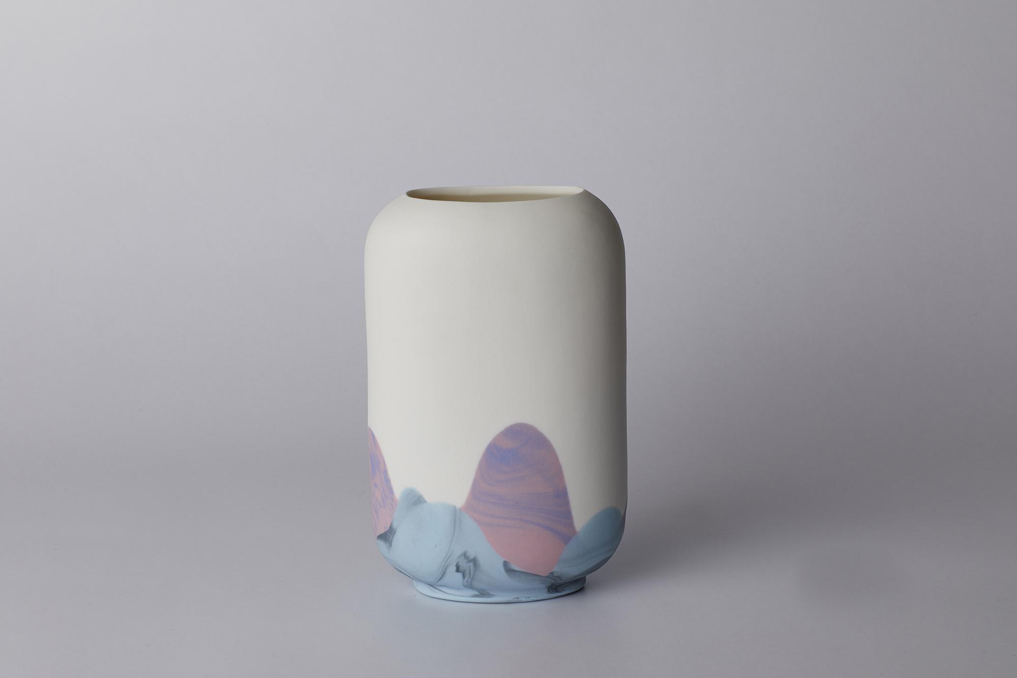Sheung Wan:  light blue, black, pink, dark blue tones
