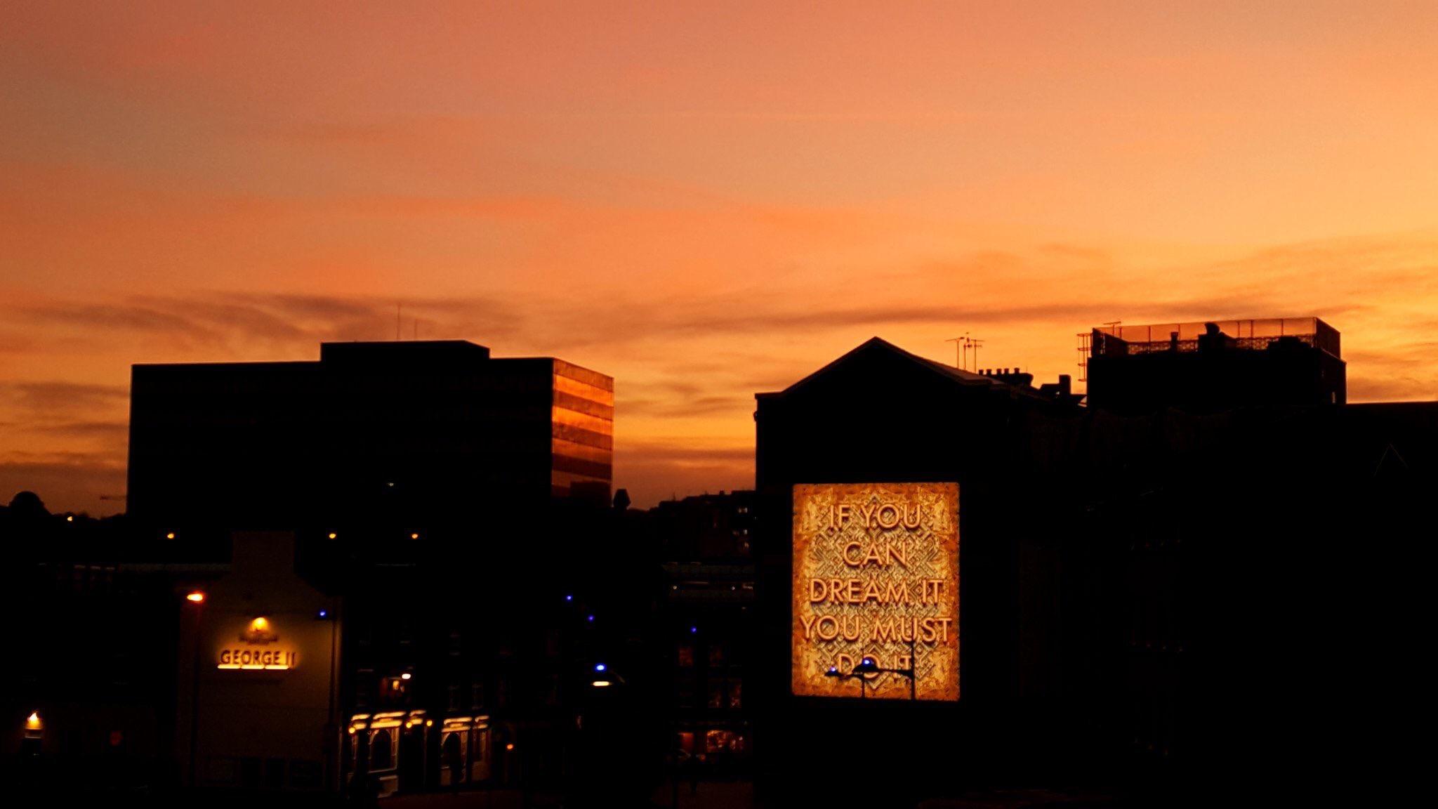 Mark Titchner's illuminated Beacon in the #HatDistrict Luton