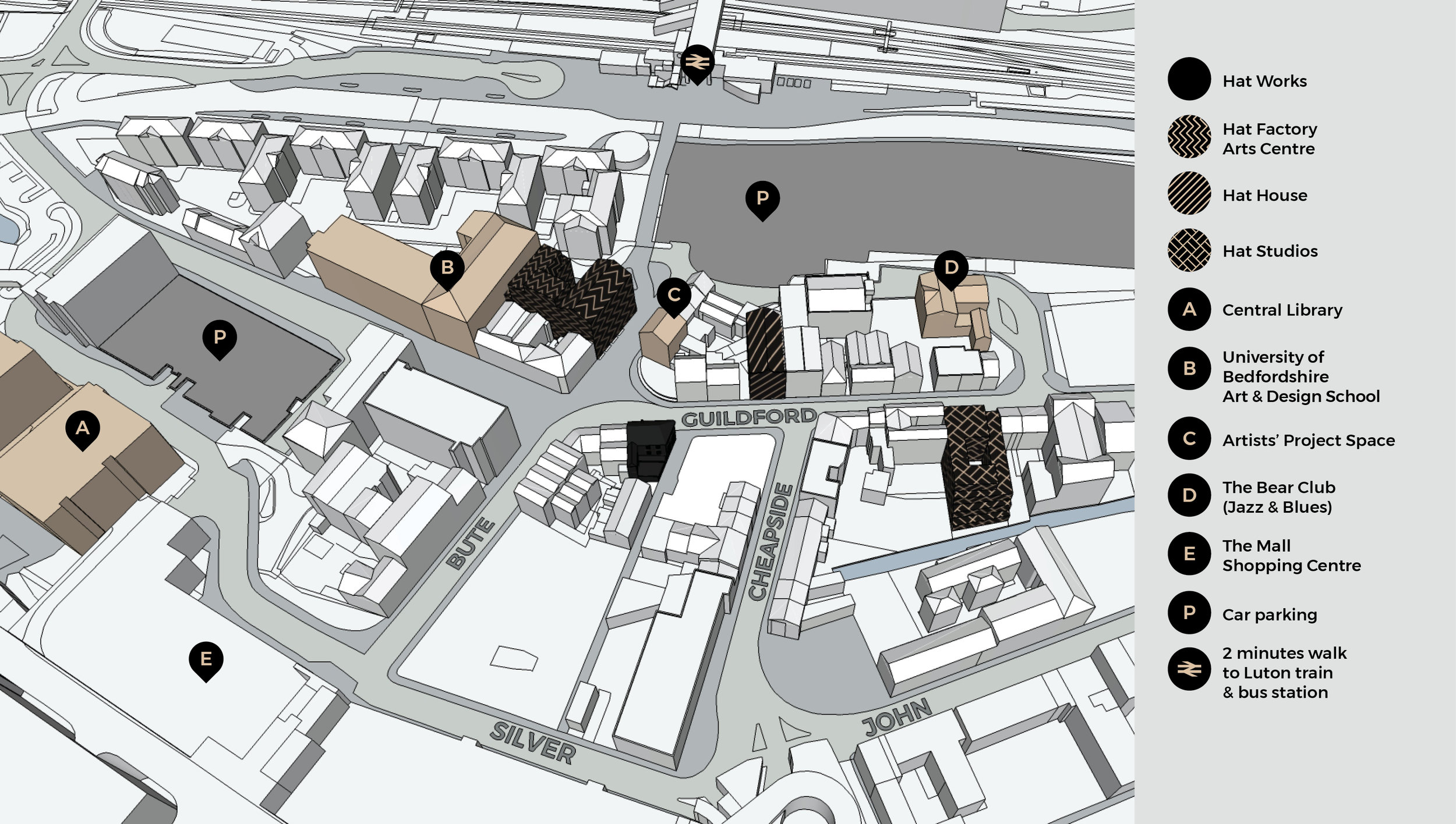 The Hat District I Creative, work, show and share spaces in the heart of Luton