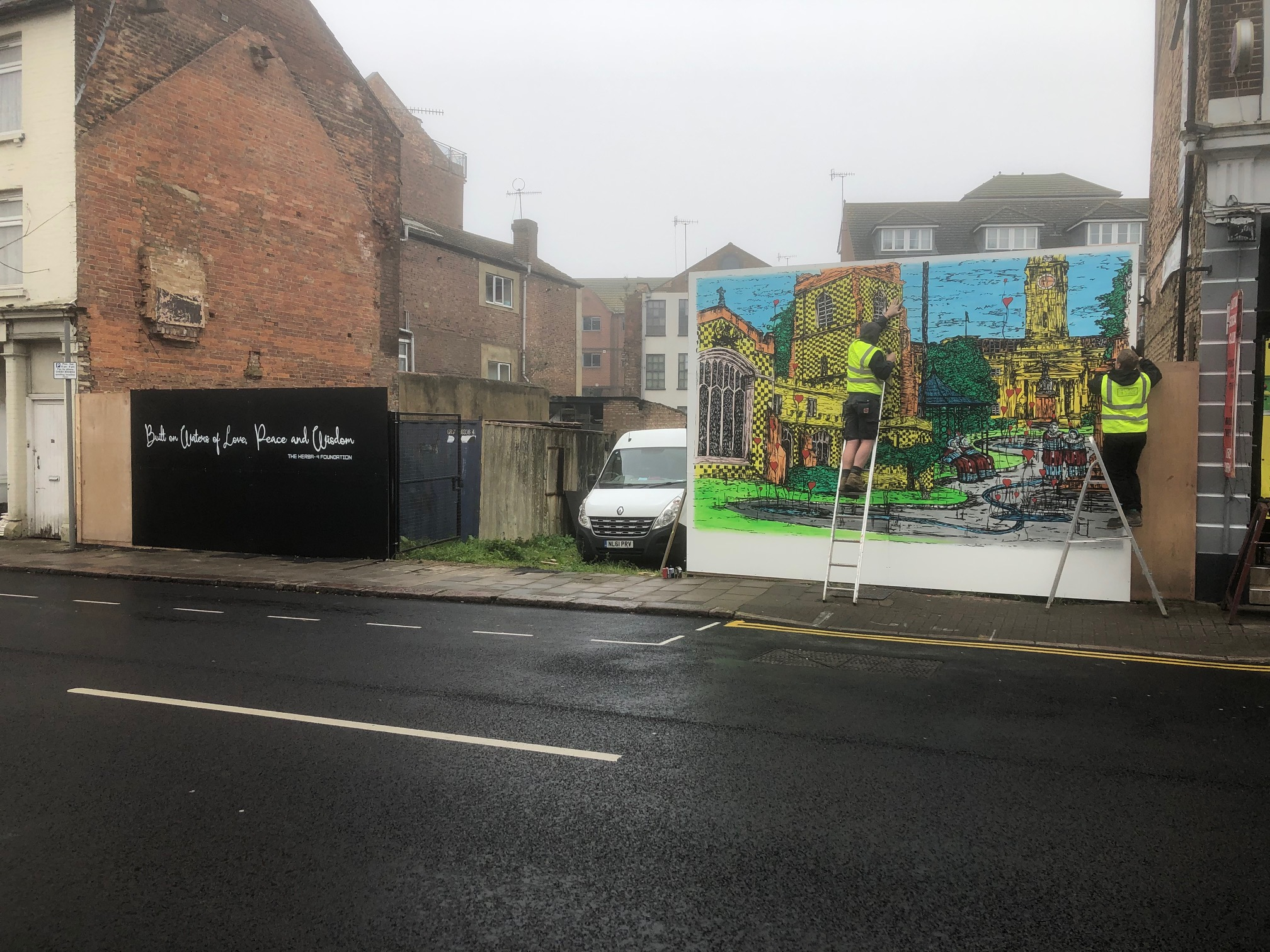 Veit Laurent Kurz mural in Luton's Hat District