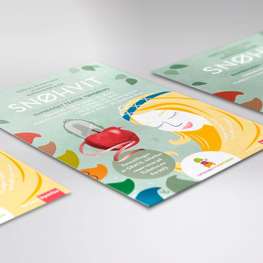 TEATER SNØHVIT  Illustrasjon, grafisk design