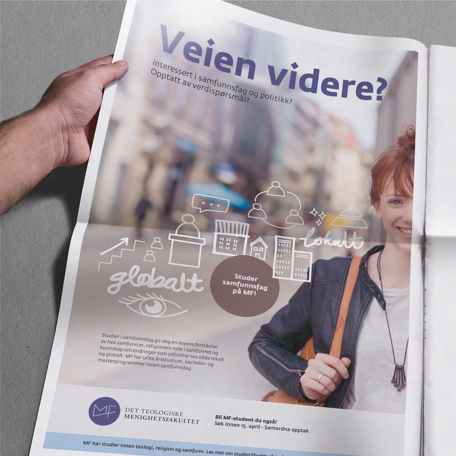 MF VEIEN VIDERE Grafisk design, illustrasjon