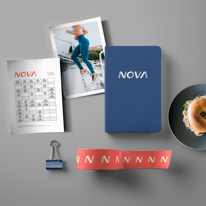 NOVA trening og helse - LOGO, nettside, markedsføring, film