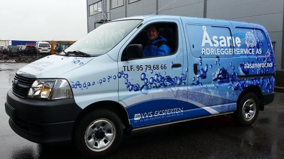 Codan i Åsane fikset god pris på denne varebilen til Åsane Rørleggerservice as.