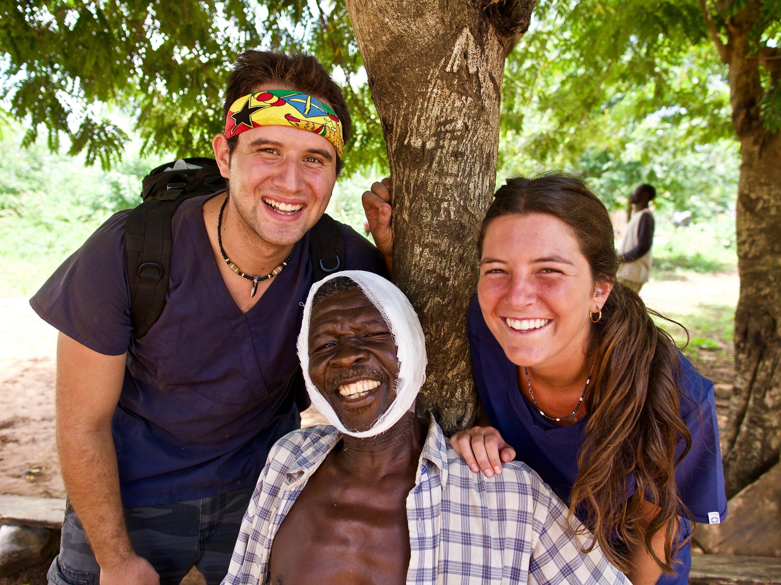 Mane & Kyle - Volunteers, IVHQCombined efforts of life-changing Medical Care in rural Ghana.