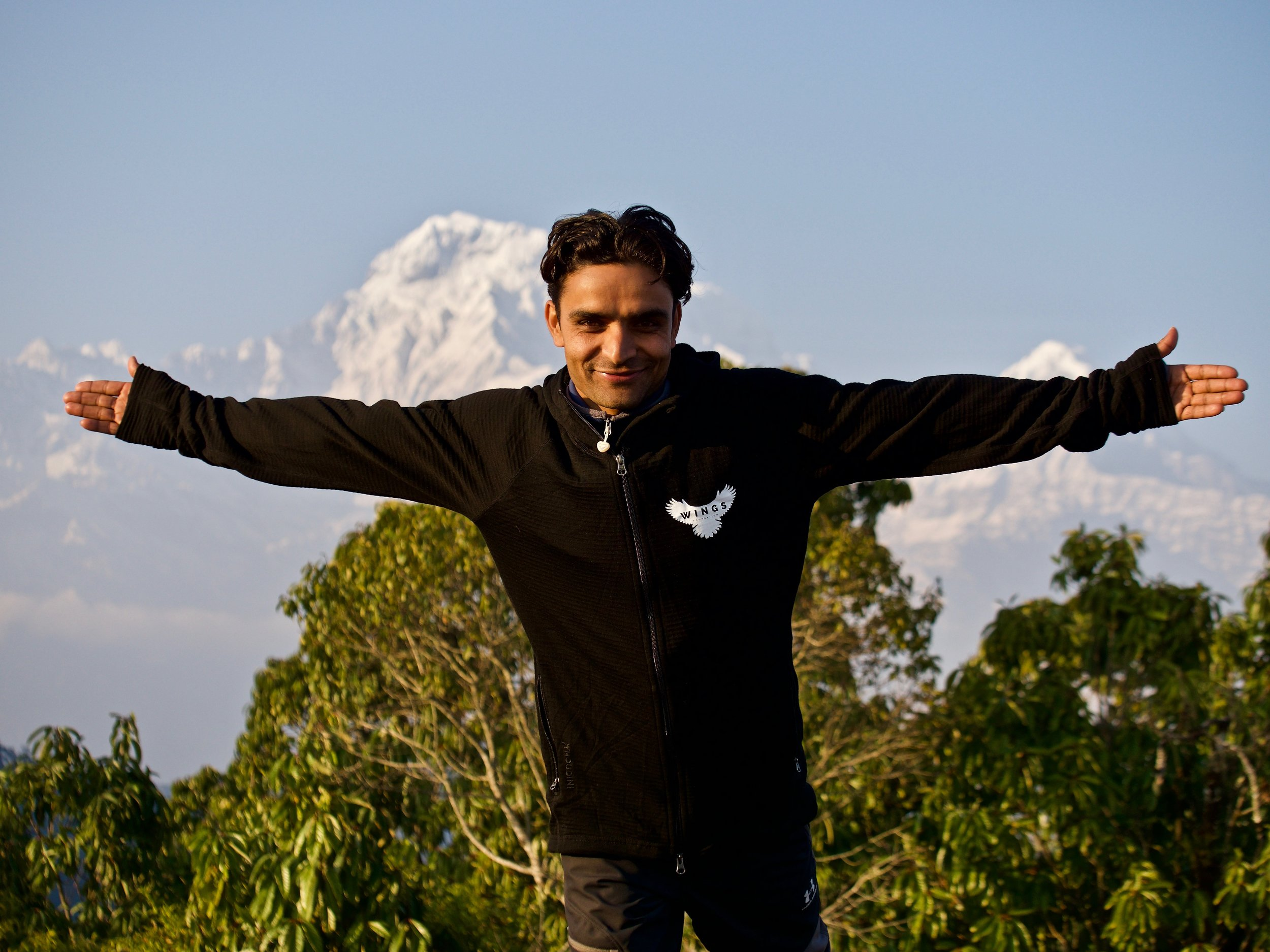 Deepak Pokharel - Trekking Guide, WINGS FoundationAssisting our efforts in the Himalayas with a great love for the mountains and the surrounding nature.