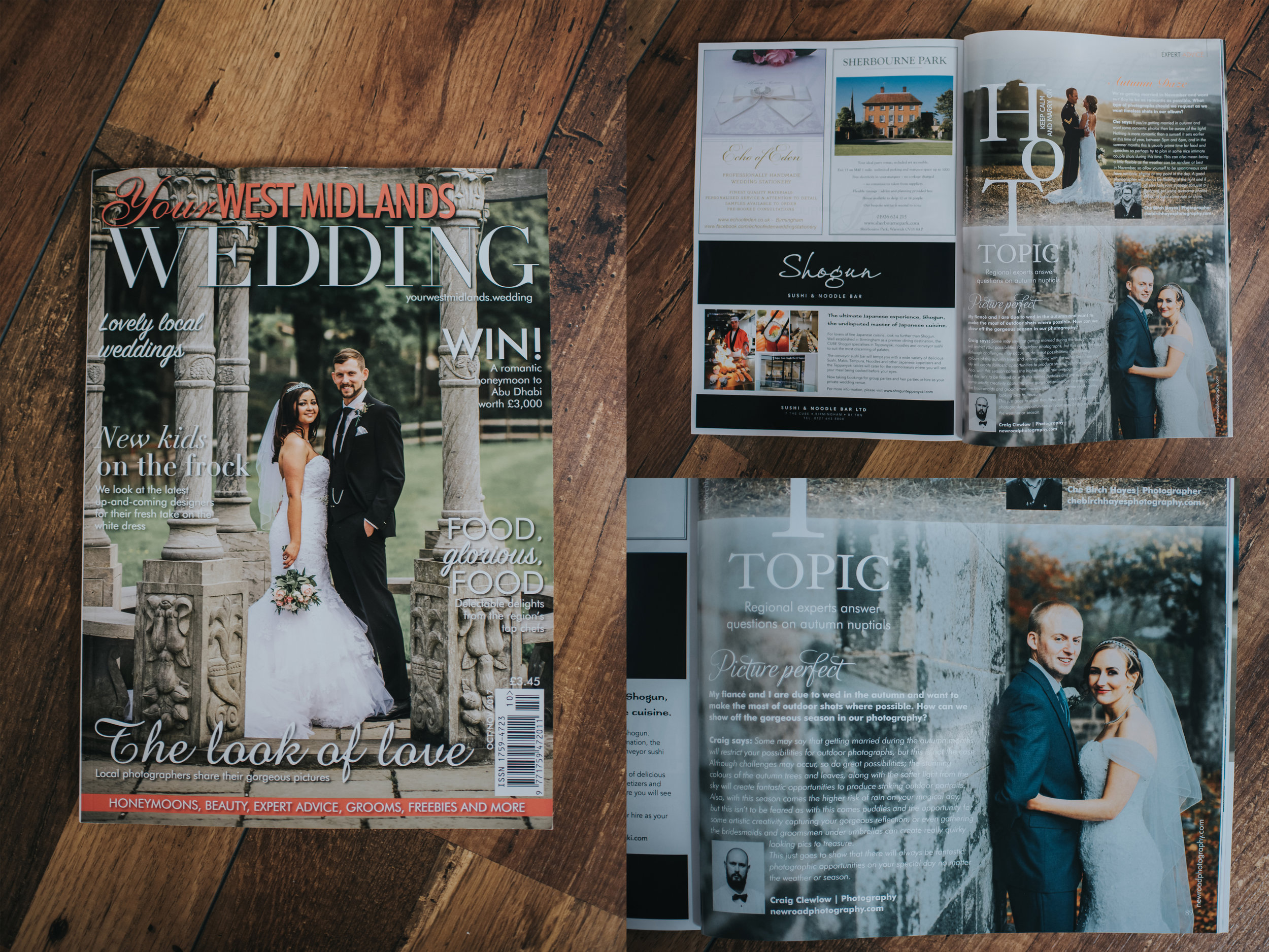 October issue of Your West Midlands Wedding Magazine