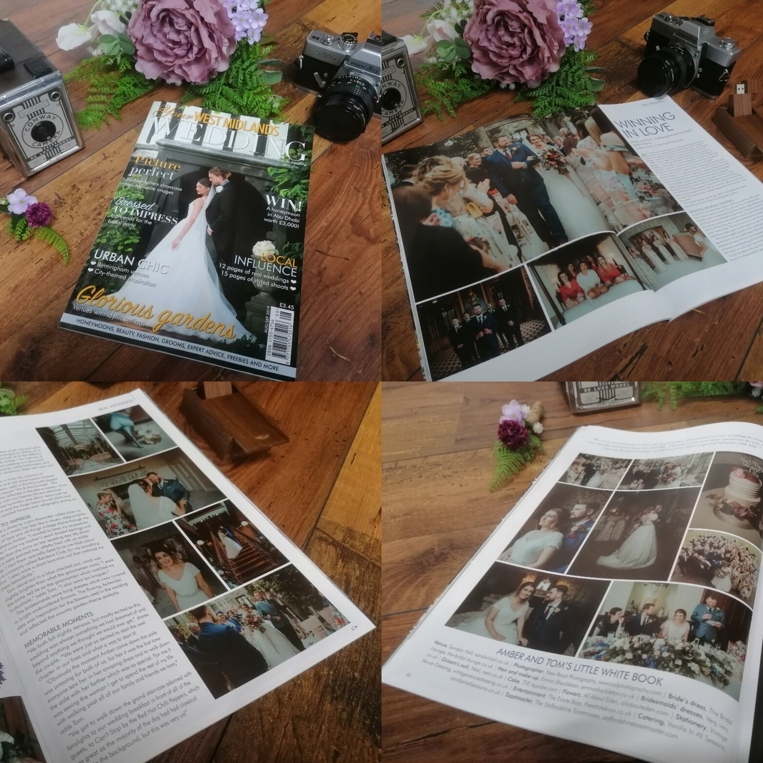 Your West Midlands Wedding magazine August/September 2019 issue, full wedding feature