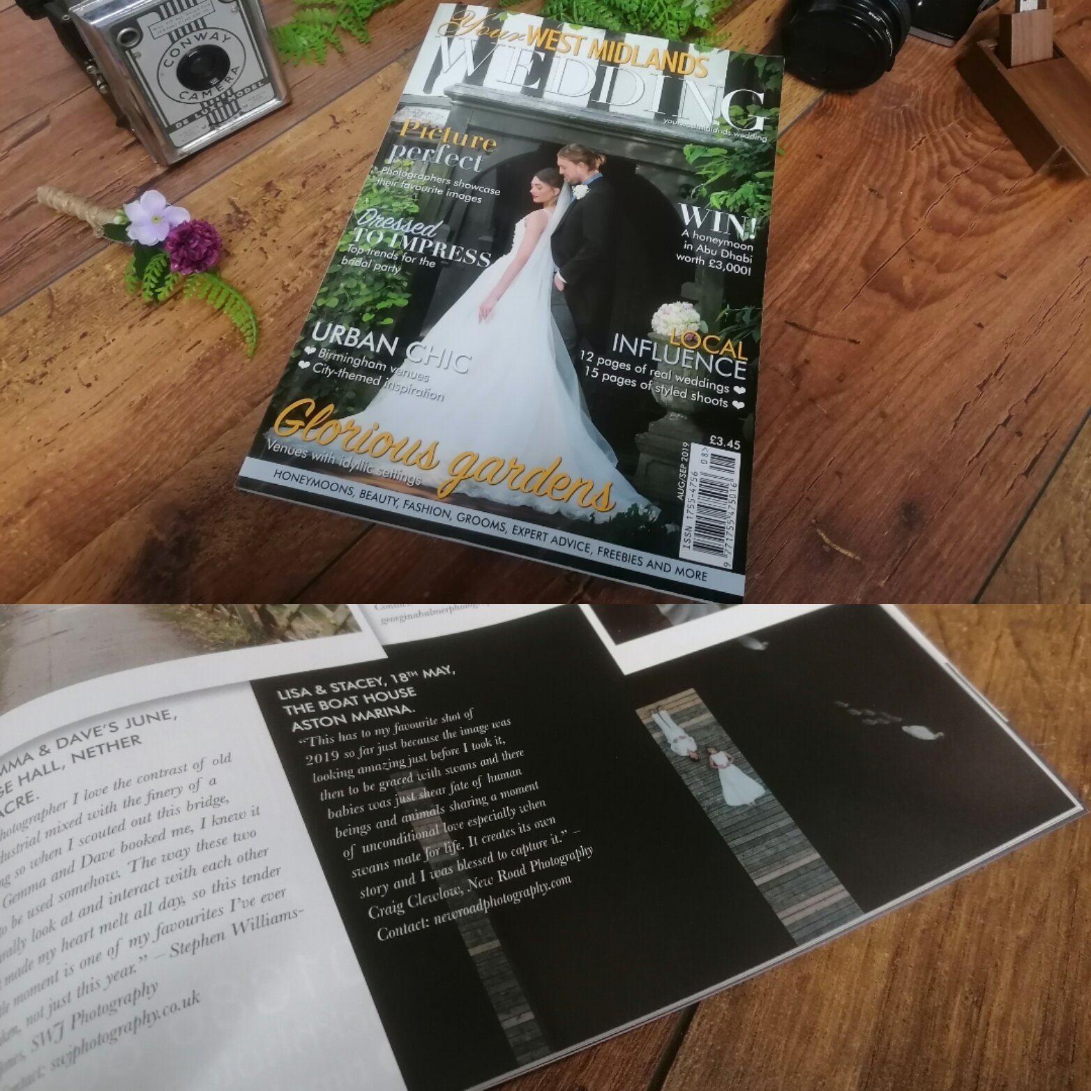 Your west midlands wedding magazine August/September issue 2019, best of 2019 feature photo