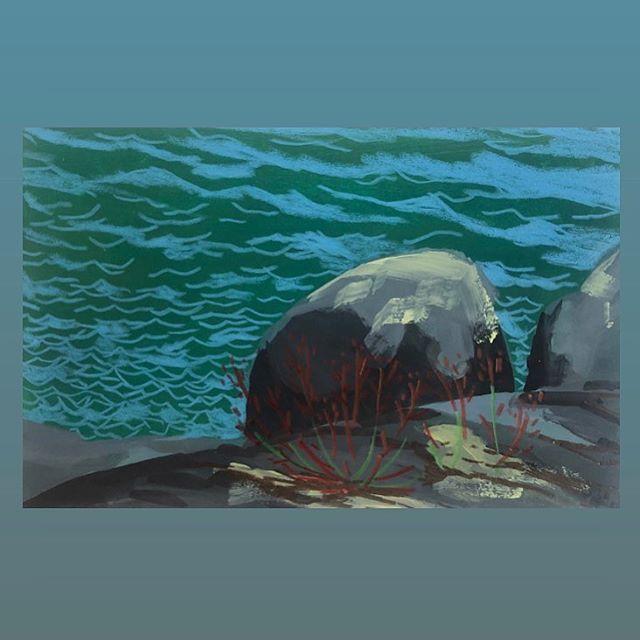 New spot. - #archipelago #möja #lefrancbourgeois #vinylcolors #sketch #vacationmode #carandache #coloredpencils #picturepressplay #möjamålarresidens
