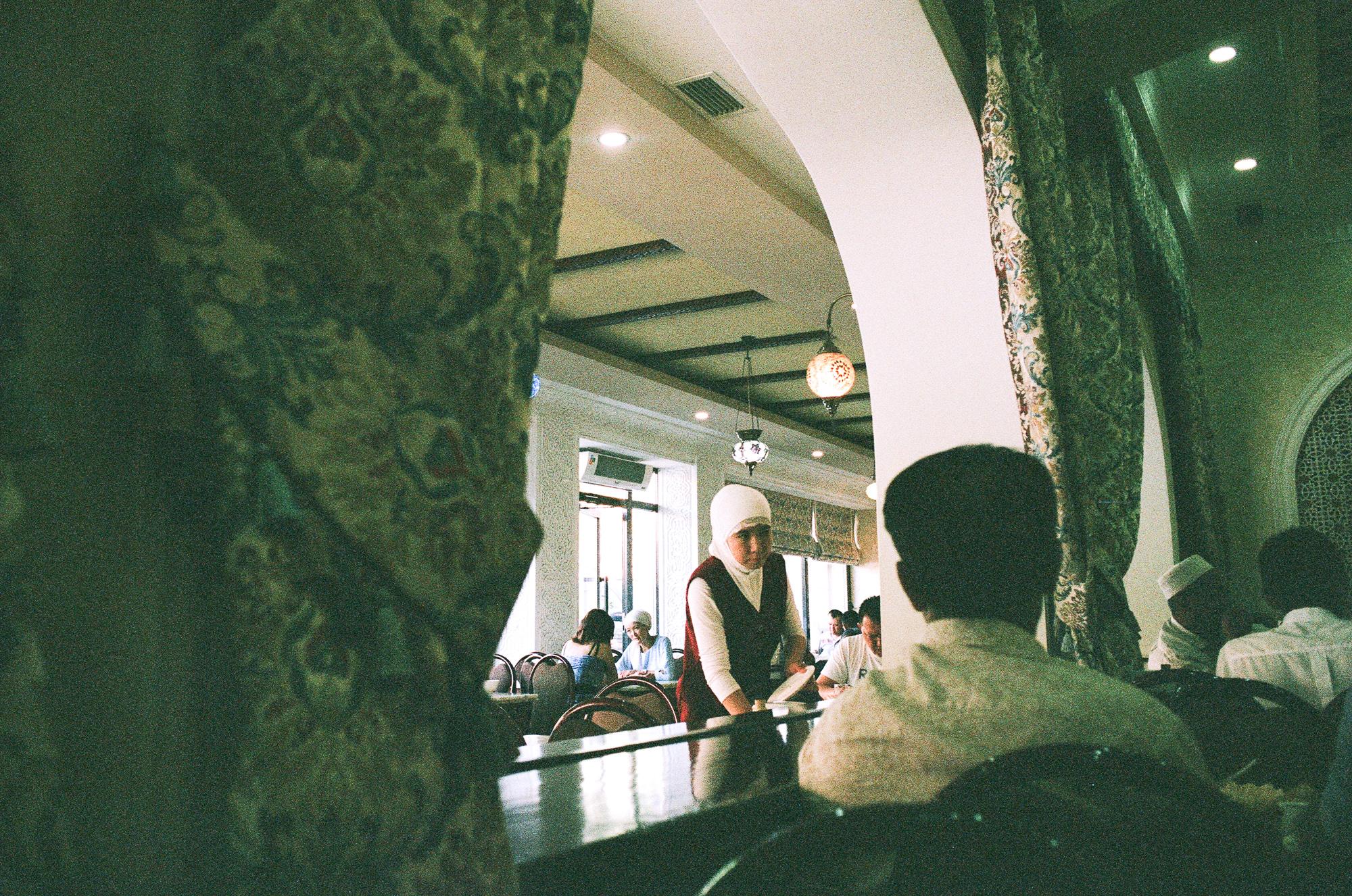Female server. Bishkek