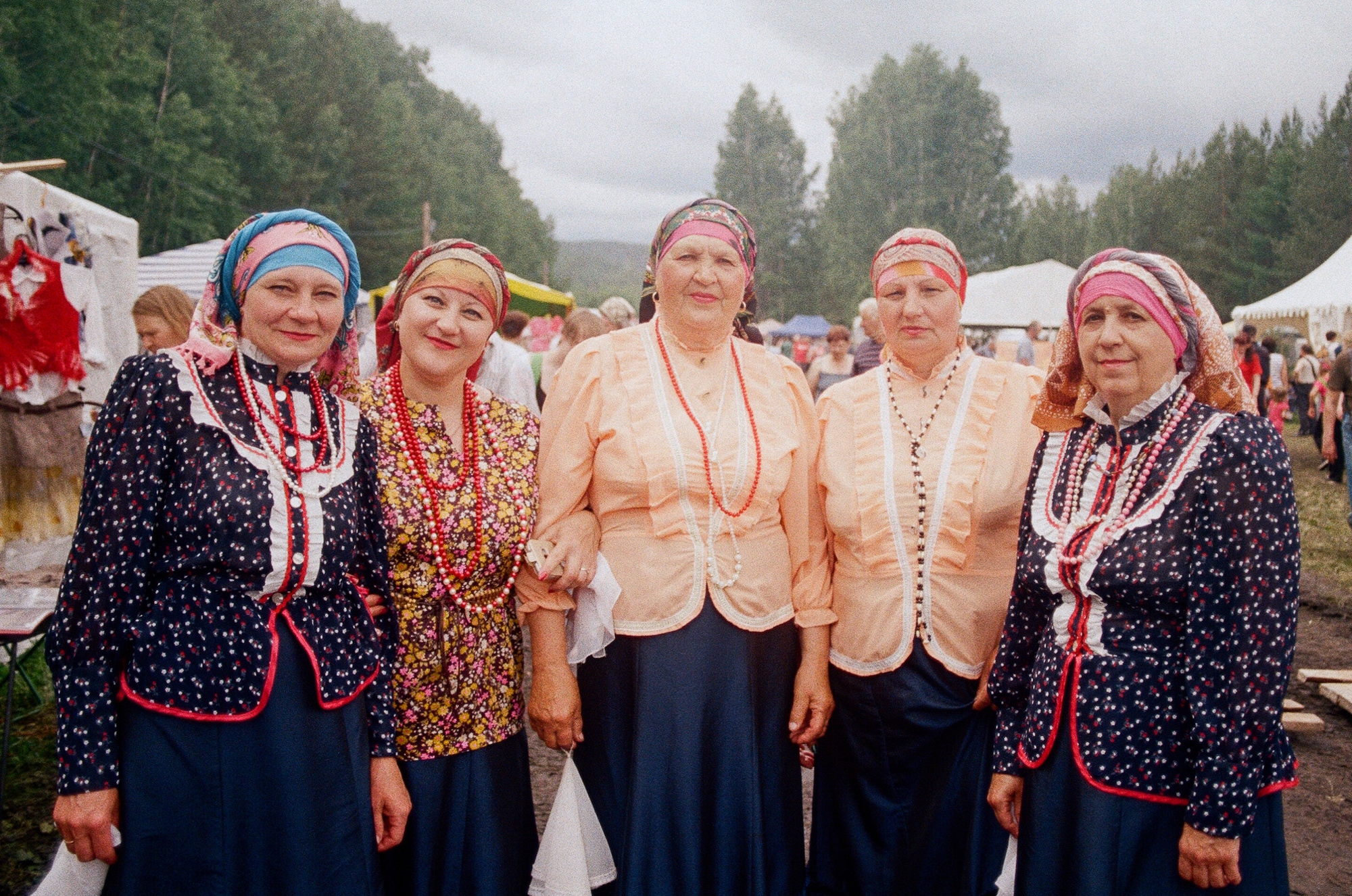 Cossack female collective. Often I've met performing or crafting groups initiated in rural regions. One of the intentions is to document local creativity - flourishing within indigenous people as textile art, traditional music or dance. (to learn more   minorityrights.org/minorities/cossacks  )