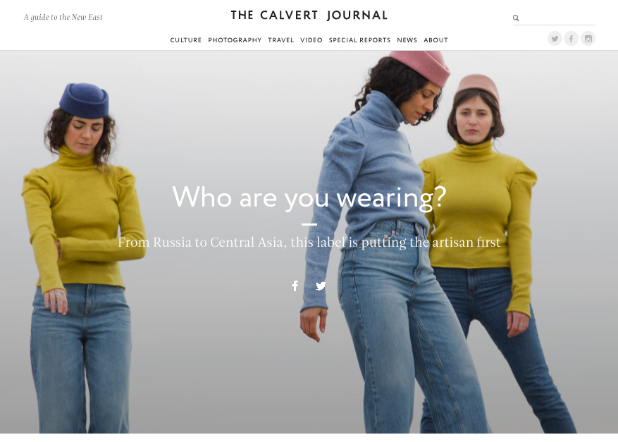 Calvert Journal on diversity of post-Soviet craft and human side of every startup