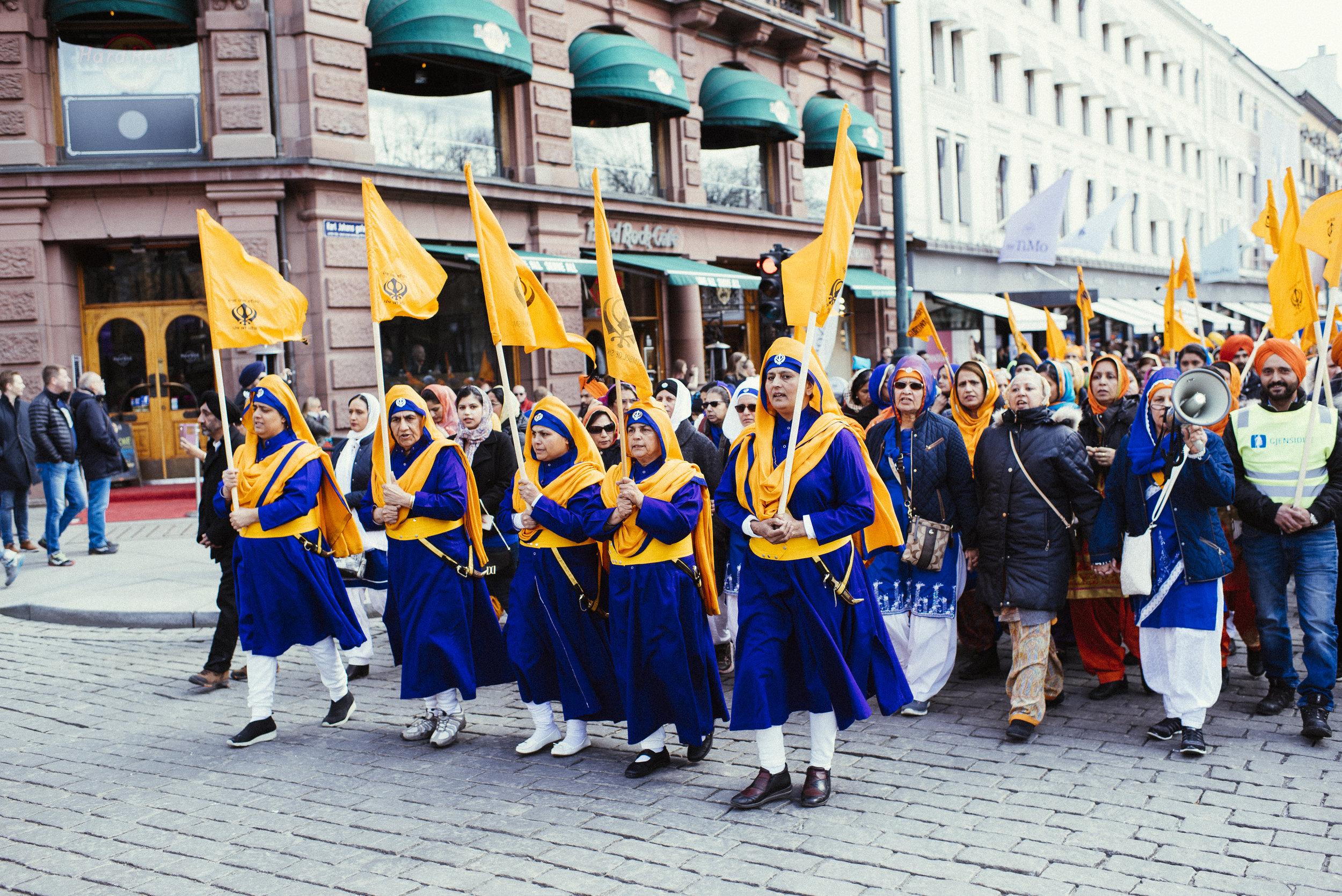 Vaisakhi, den årlige marsjen i Oslo.