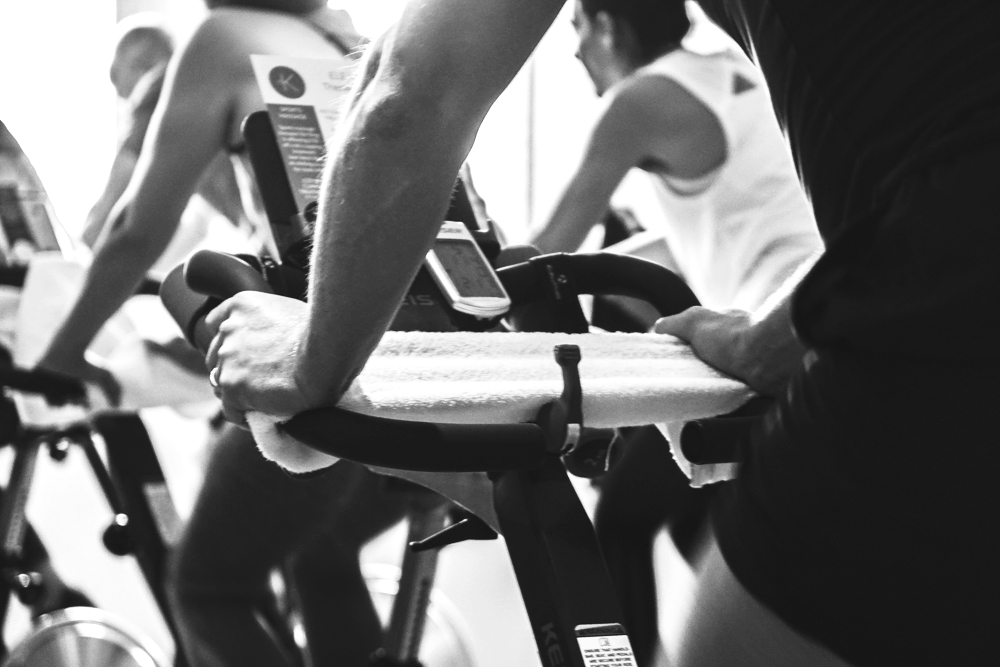What else do I need to bring to class? - We provide towels and you can buy bottled water in reception or bring your own. Indoor cycling is a sweaty business and your water will be your favourite accessory on that bike. Wear supportive trainers and comfortable sweat wicking clothing.