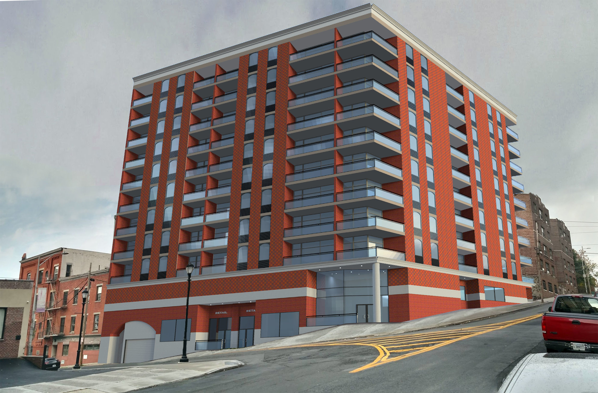 Proposed mixed use building in downtown Yonkers