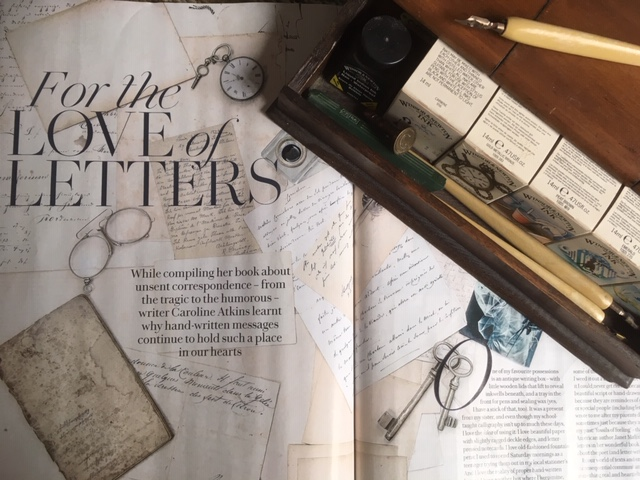 Caroline Atkins writes about letter-writing in the February issue of  Country Living