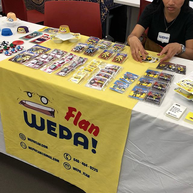 Drop by @peoplesforumnyc people's market (swipe for store front) ...WEPA! (Handmade goods, t-shirts, jewelry, soap, art and good vibes) ...stay cool! . . . . . . . #wepa #flan #toy #stickers #peoplesforumnyc #nyc #market #vendor #saturday #june #pins #latinx #pr #peoplesforumnyc #art #bags #jewelry