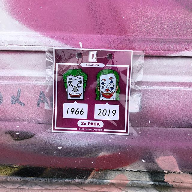 2x pack pins from @wepaflan.com shop (Link in the bio) ...WEPA! Thanks again for all of the support! . 🤡 . . . . . . . . . . #wepa #joker #flan #pin #nyc #vinyltoys #pins #sales #cute #happy #instagood #art #bk #cocotaso #photooftheday #pinlife #collectable #vintage #Clown #fanartforurun #free #batman #gotham #stickers #stickerpack #shop #thanks #batman