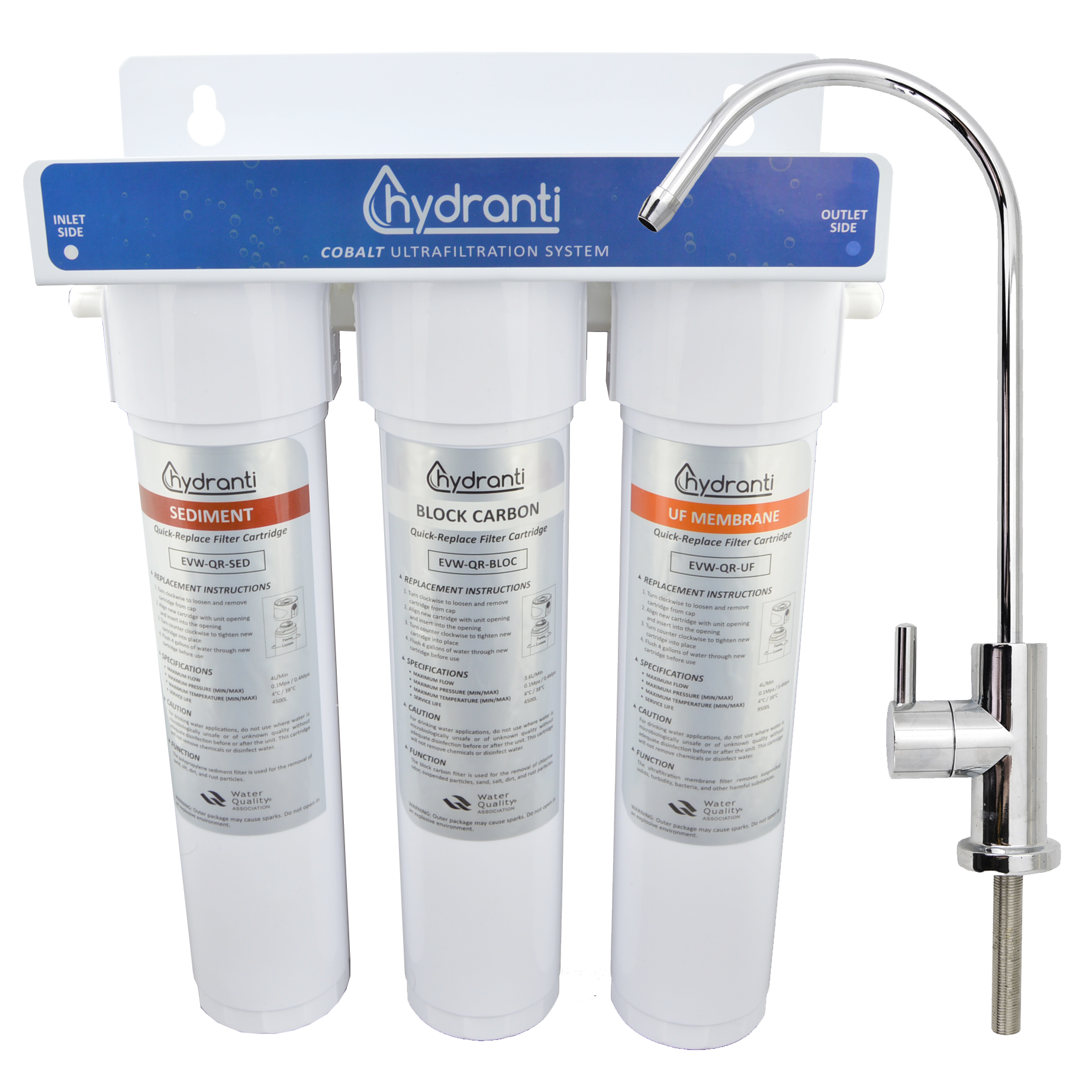 COBALT 3-Stage UF Filtration System - Our premiere water filtration system. Easy to install and use, plus incredibly effective!