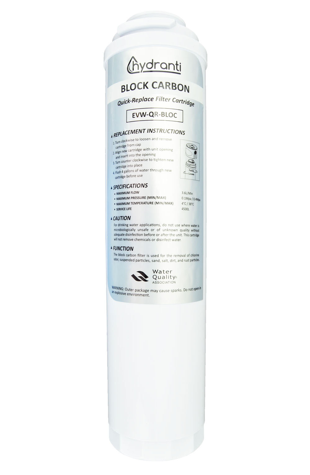 Block Carbon Filter - Block Carbon filters are designed to remove some of the chlorine from your water. This is ideal for city or county water users. The Block Carbon filter also protects your UF membrane and increases its longevity.