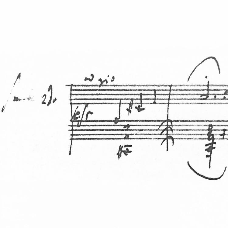 beethoven - sonata in d minor, Op. 31 No. 2 . facsimile of autograph