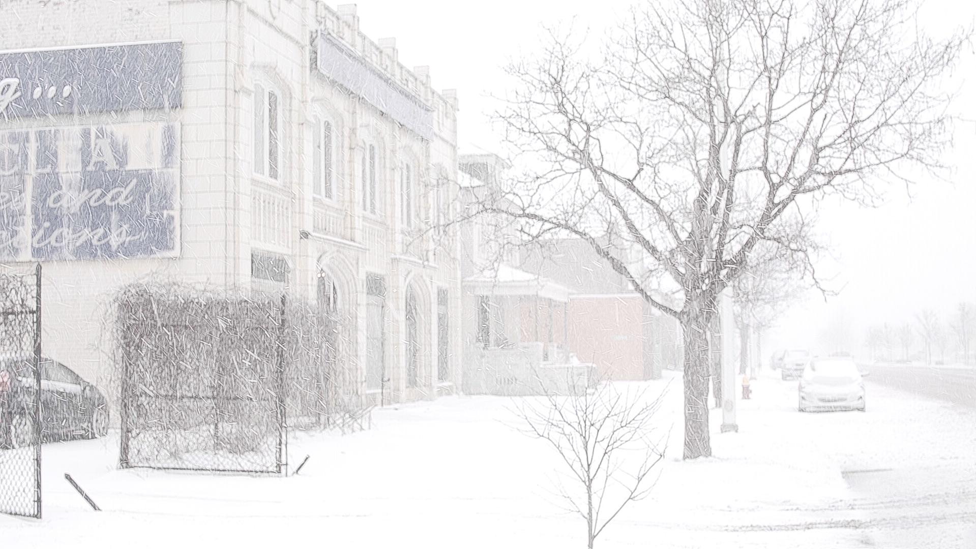 Jam handy film studios in the snow. photo - stewart french
